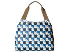Orla Kiely Poppy Cat Print Zip Shoulder (Powder Blue)