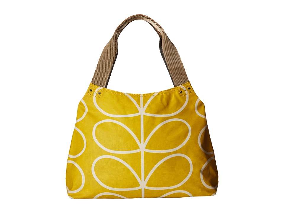 Orla Kiely Giant Linear Stem Zip Shoulder Dandelion Shoulder Handbags