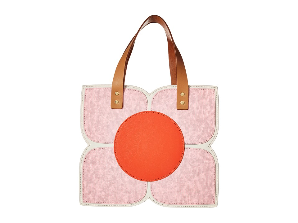 Orla Kiely Square Flower Applique Handbag Cream Handbags