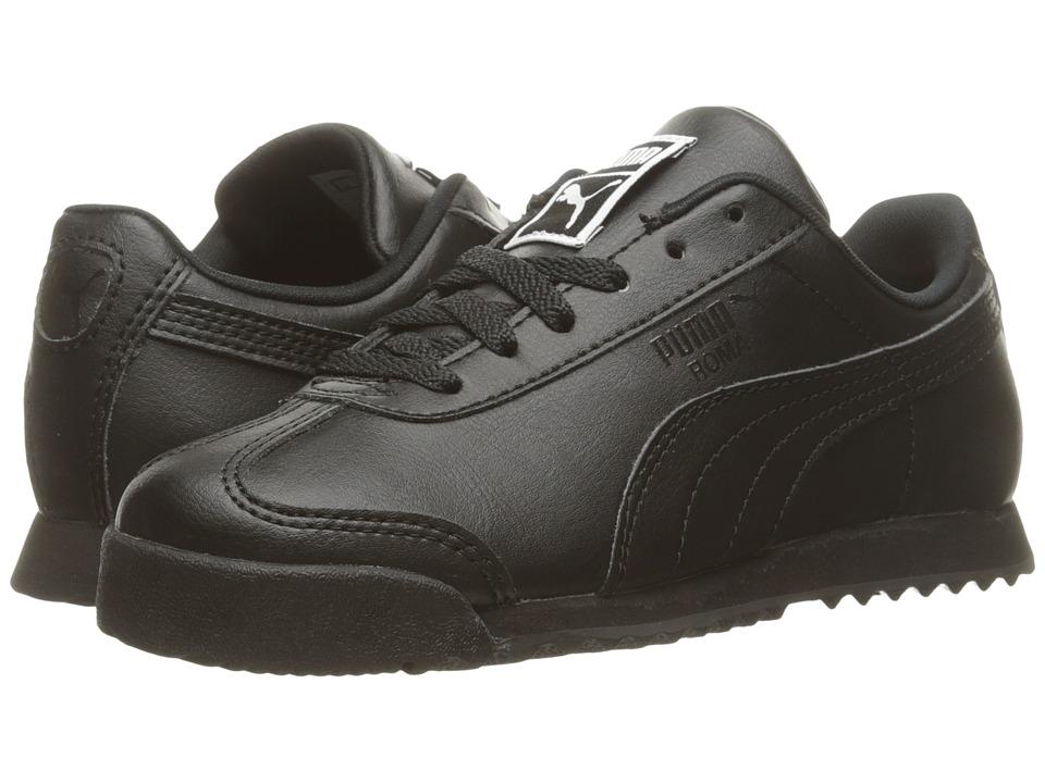 Puma Kids Roma Basic PS (Little Kid/Big Kid) (Puma Black/Puma Black) Kids Shoes