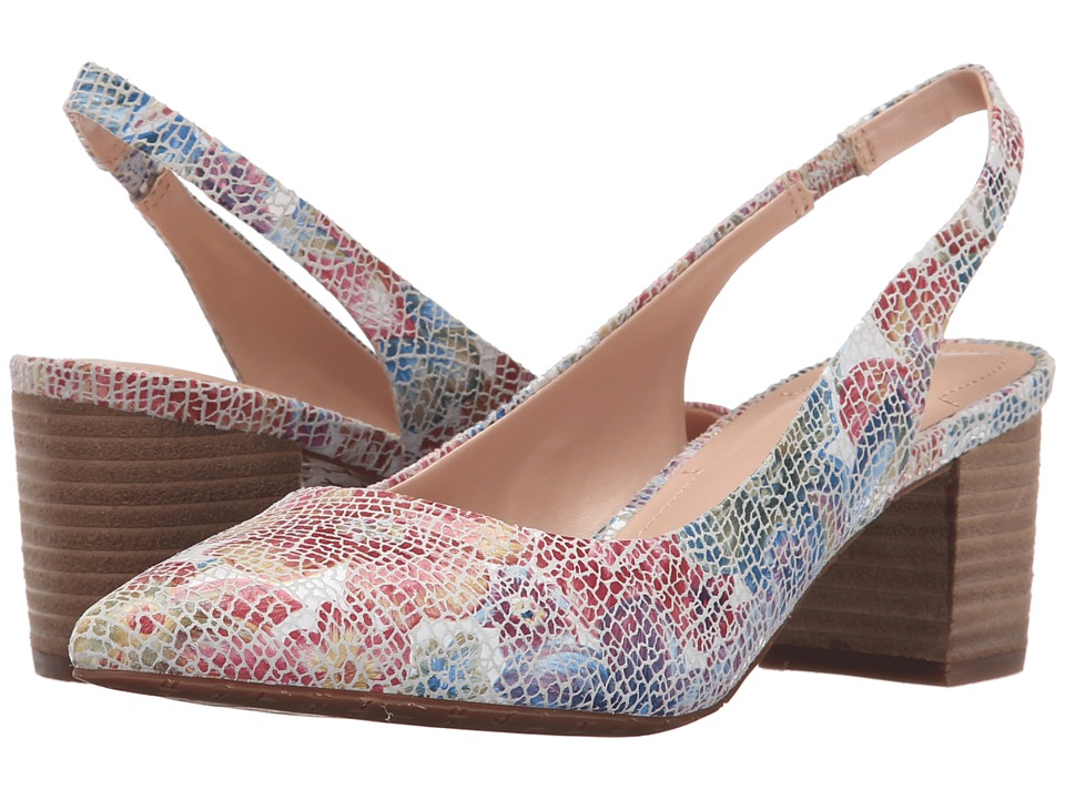 Tahari Revel Neutral Floral Crack Print Womens Shoes