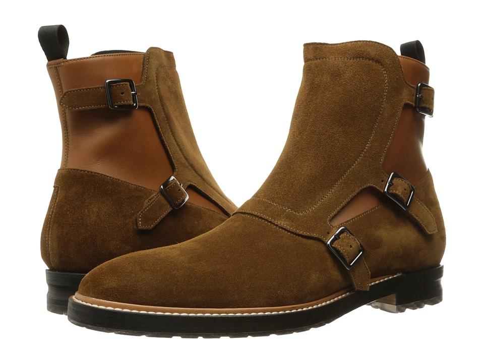 Alexander McQueen Gable 3 Buckle Boot (Saddle) Men