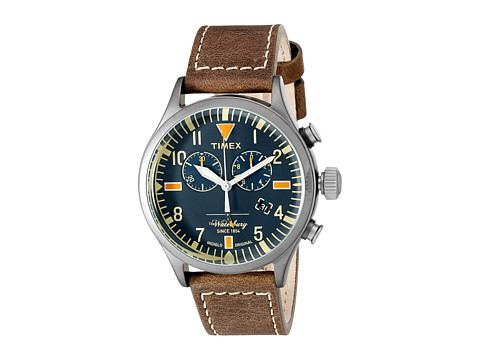 Timex Waterbury Chronograph Leather Strap