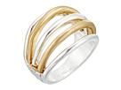 Robert Lee Morris Two-Tone Multi Row Ring
