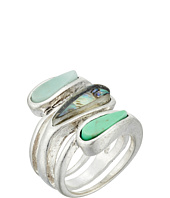 Robert Lee Morris - Turquoise Abalone Ring