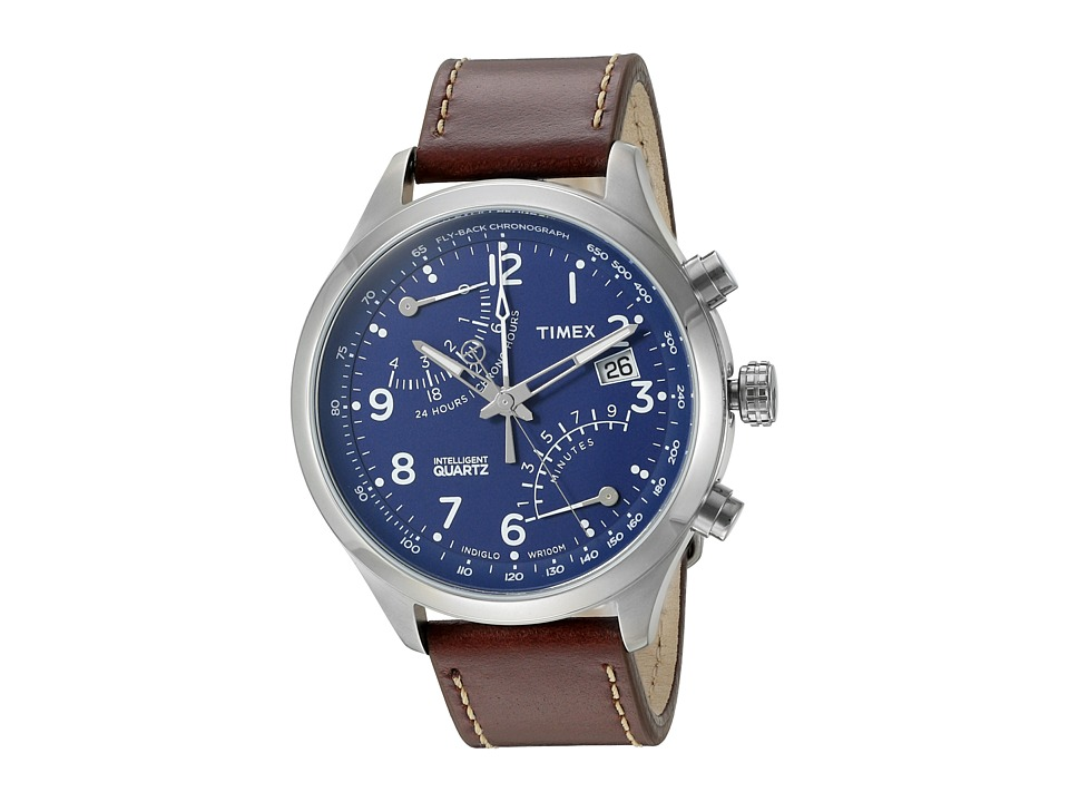 Timex Intelligent Quartz Fly-Back Chronograph (Blue/Silve...