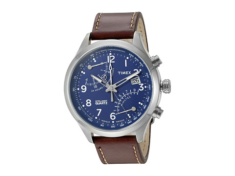 Timex Intelligent Quartz Fly-Back Chronograph - Blue/Silver/Brown