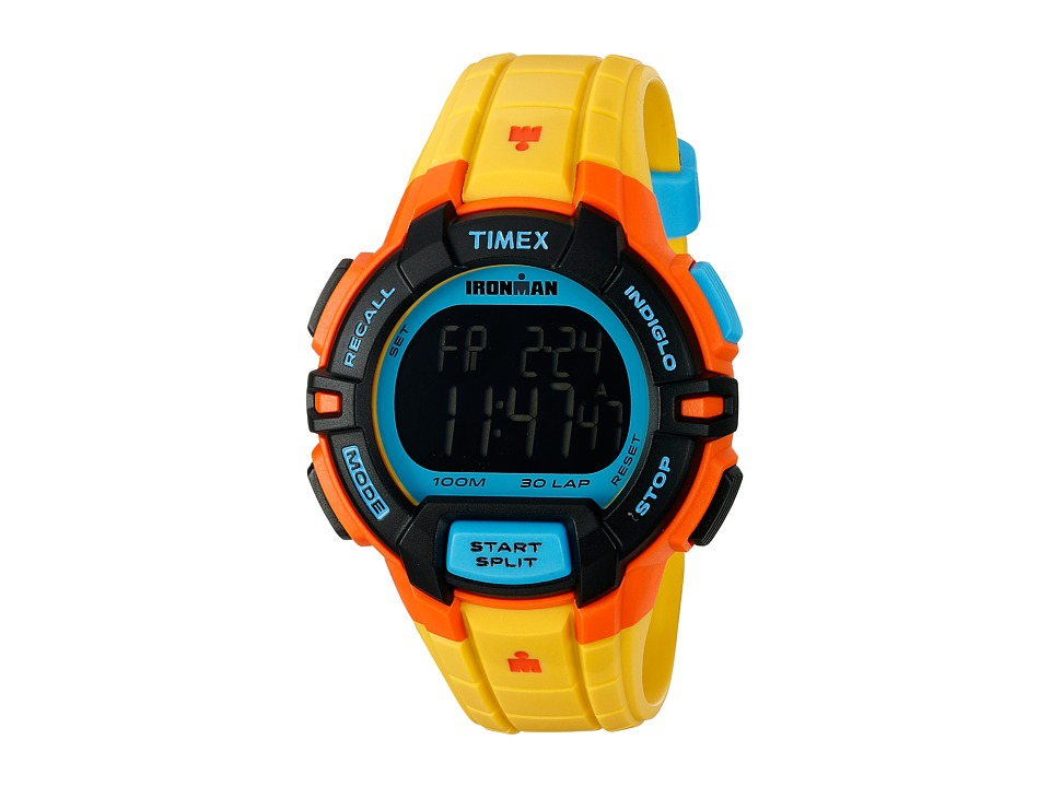 Timex Ironman Rugged 30 Color Block Full Size Yellow Color Block Watches
