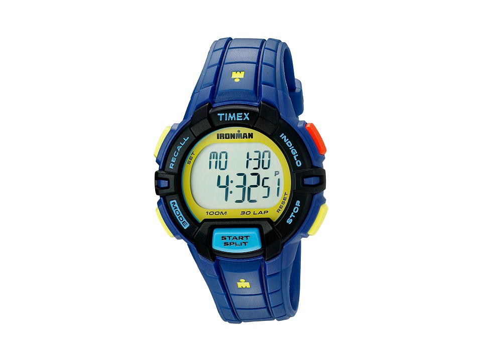 Timex Ironman Rugged 30 Color Block Full Size Blue Color Block Watches