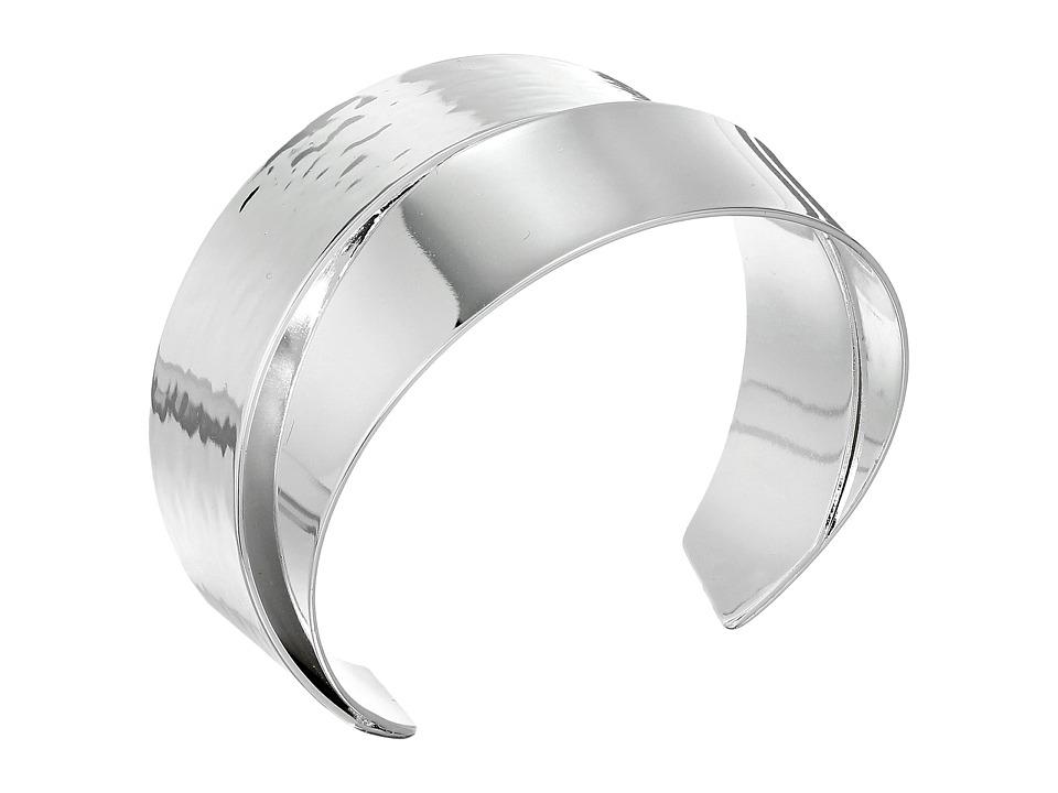 Robert Lee Morris Silver Overlap Cuff Bracelet Shiny Silver Bracelet