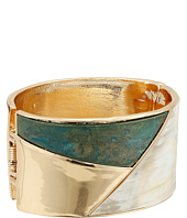 Robert Lee Morris - Patina and Horn Hinge Bangle