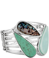 Robert Lee Morris - Turquoise Abalone Hinge Bangle