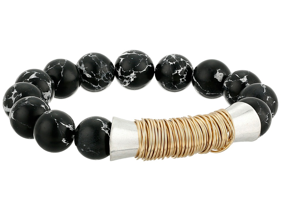 Robert Lee Morris Black Bead Stretch Bracelet Black Bracelet