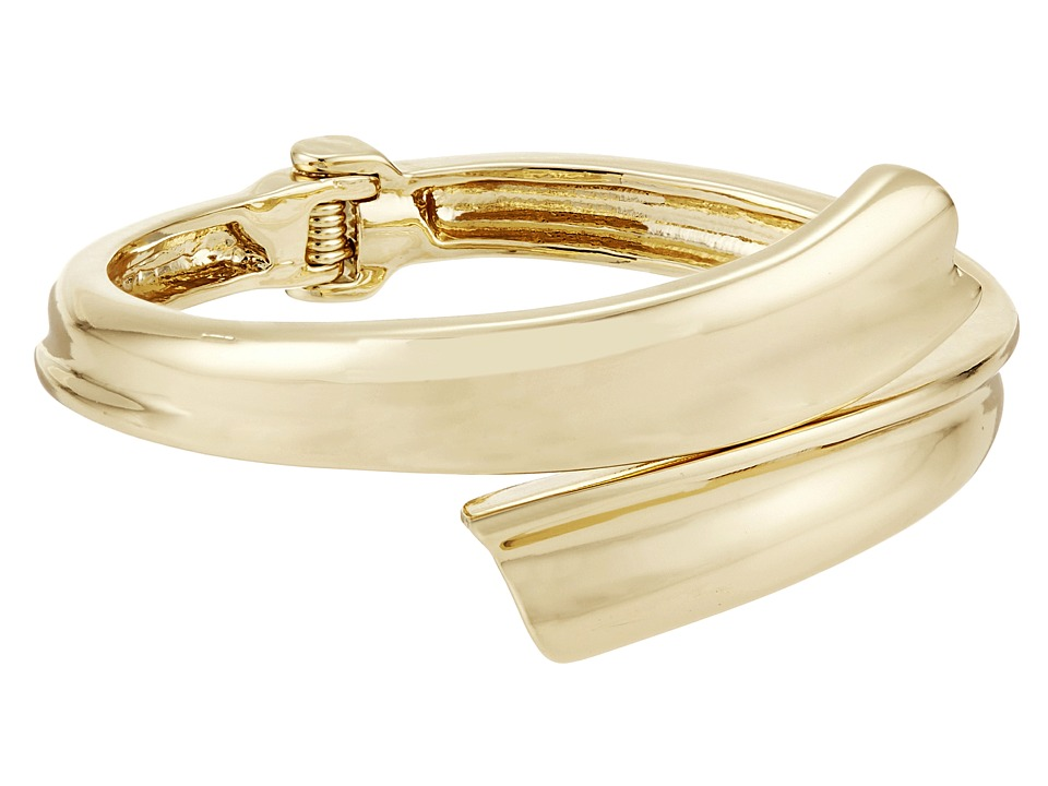 Robert Lee Morris Gold Bypass Hinge Bangle Bracelet Gold Bracelet
