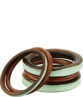 Robert Lee Morris - Turquoise Wooden Bangle Set