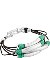 Robert Lee Morris - Turquoise and Leather Toggle Bracelet