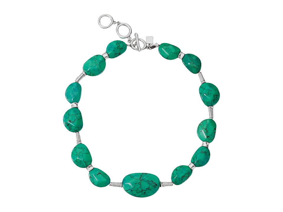 Robert Lee Morris - Turquoise Stone Frontal Necklace (Turquoise) Necklace