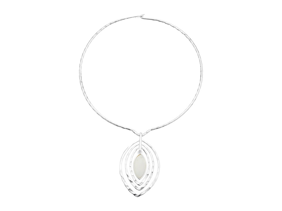 Robert Lee Morris Shell Round Wire Teardrop Pendant Necklace Natural Necklace