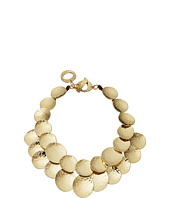 Robert Lee Morris - Hammered Gold Disc Frontal Necklace