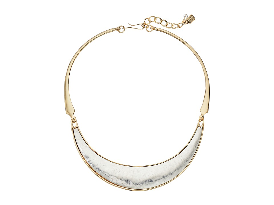 Robert Lee Morris Two Tone Wide Collar Necklace Two Tone Necklace
