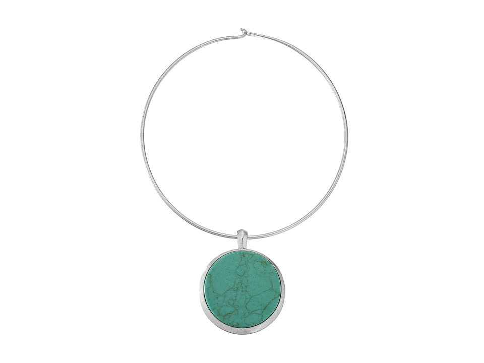 Robert Lee Morris - Turquoise Round Wire Pendant Necklace (Turquoise) Necklace