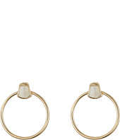 Robert Lee Morris - Horn Accent Gypsy Hoop Earrings