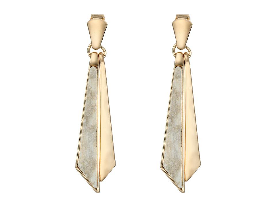 Robert Lee Morris - Horn Shaky Linear Earrings (Horn) Earring