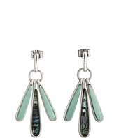 Robert Lee Morris - Turquoise Abalone Shaky Drop Earrings