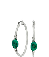 Robert Lee Morris - Turquoise Accent Hoop Earrings