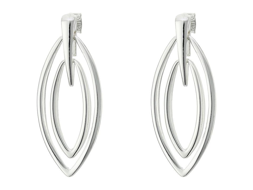 Robert Lee Morris Silver Gypsy Drop Earrings Shiny Silver Earring