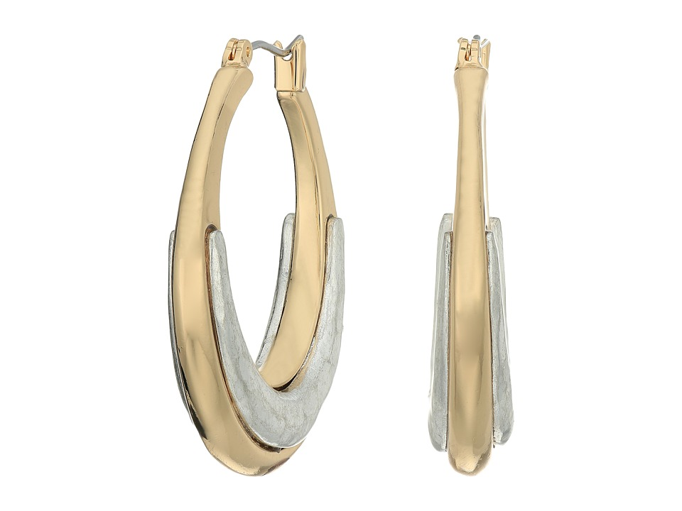 Robert Lee Morris - Two-Tone Medium Hoop Earrings (Two-Tone) Earring