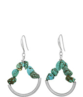 Robert Lee Morris - Turquoise Gypsy Hoop Earrings