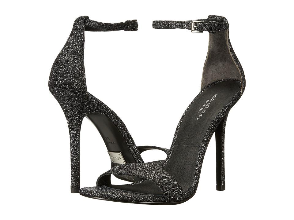 Michael Kors Jacqueline (Black Glitter Metallic) High Heels
