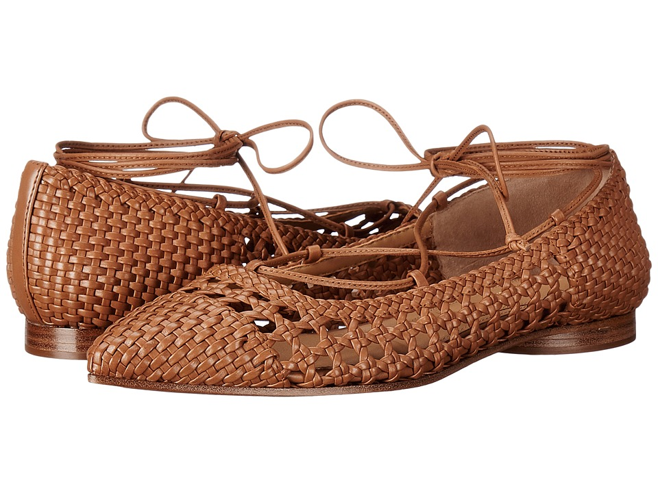 1920sStyleShoes Michael Kors - Kallie Luggage Woven Smooth Calf Womens Shoes $550.00 AT vintagedancer.com
