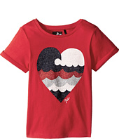 IKKS - Short Sleeve T-Shirt Glitter Heart (Toddler/Little Kids/Big Kids)