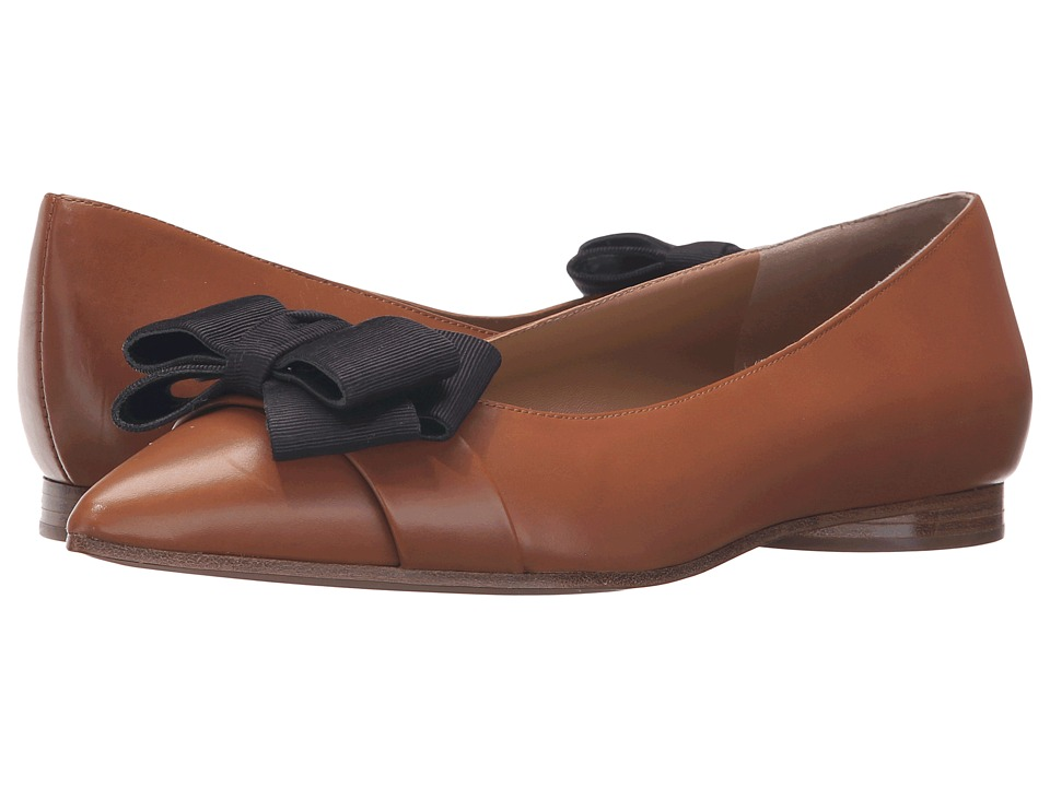 Michael Kors Marla (Luggage Smooth Calf/Grosgrain) Women