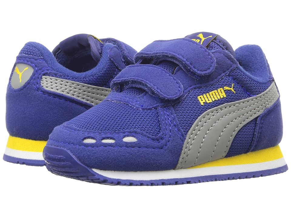 Puma Kids - Cabana Racer Mesh V Inf (Toddler) (Mazarine Blue/Limestone) Boys Shoes