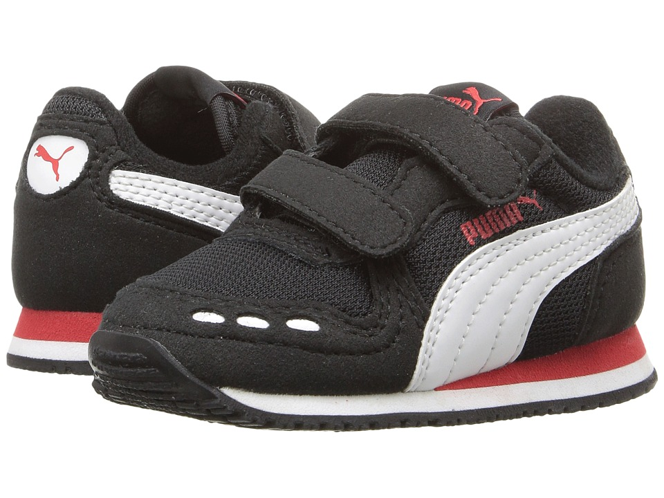 Puma Kids - Cabana Racer Mesh V Inf (Toddler) (Puma Black/Puma White) Boys Shoes