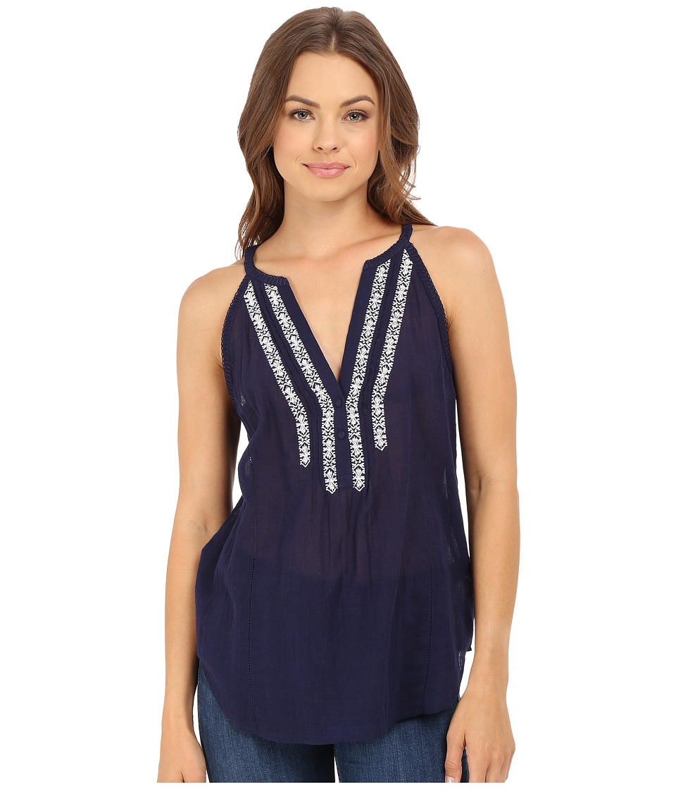 Paige Tyra Tank Top Evening Blue Womens Blouse