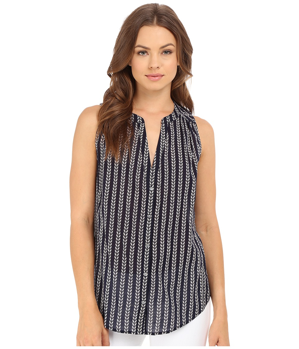 Paige Bonnie Top Evening Blue/White Womens Sleeveless