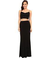 Adrianna Papell - Two-Piece Sleeveless Bead Mesh Gown