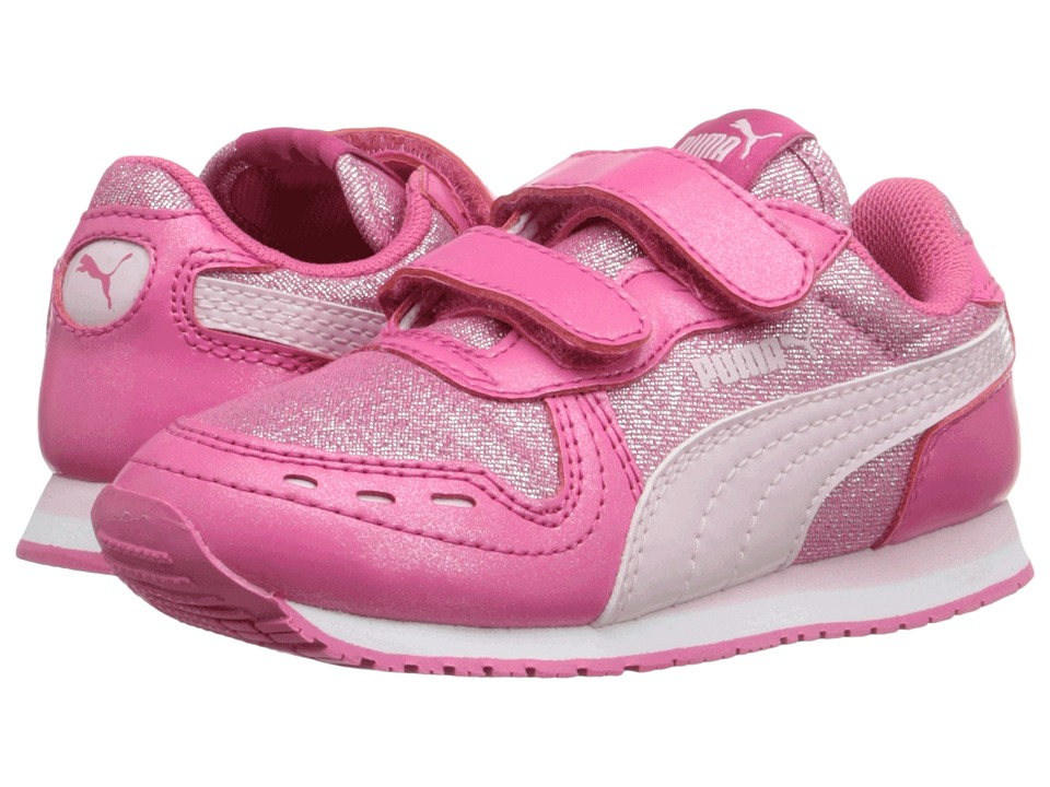 Puma Kids - Cabana Racer Glitter V Inf (Toddler) (Fandango Pink/Lilac Snow) Girls Shoes