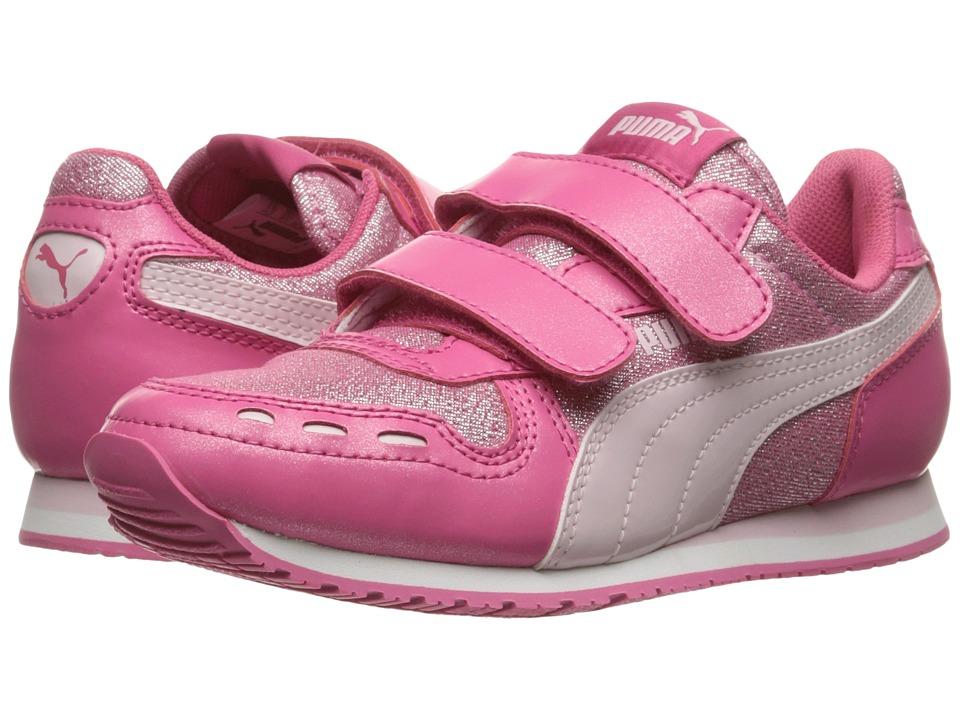 Puma Kids - Cabana Racer Glitter V PS (Little Kid/Big Kid) (Fandango Pink/Lilac Snow) Girls Shoes