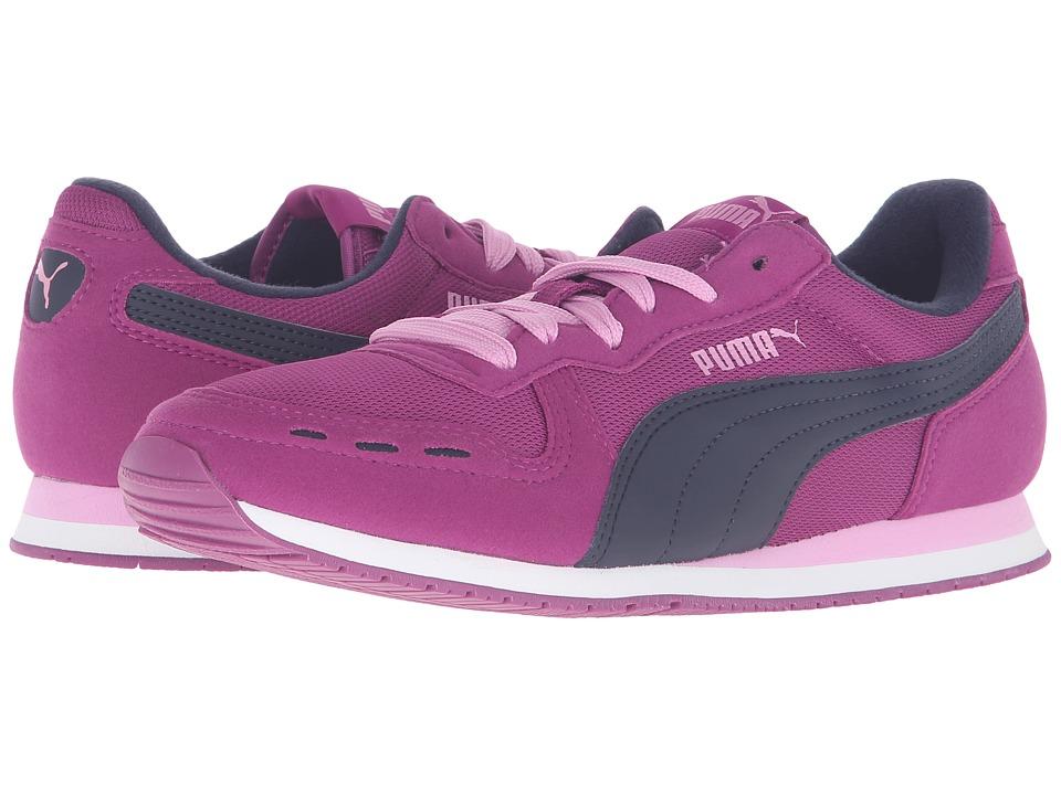 Puma Kids - Cabana Racer Mesh Jr (Big Kid) (Hollyhock/Peacoat) Girls Shoes