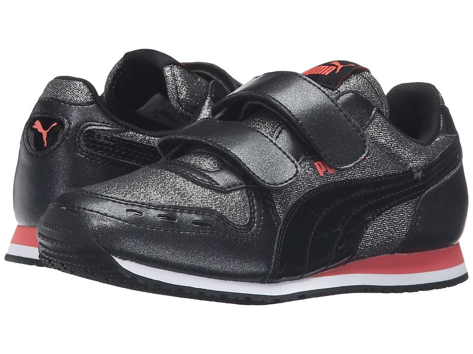 Puma Kids - Cabana Racer Glitter V PS (Little Kid/Big Kid) (Puma Black/Puma Black) Girls Shoes