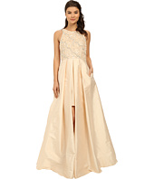 Adrianna Papell - Halter with Taffeta Skirt Gown