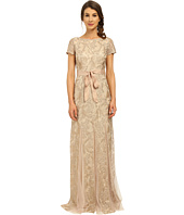 Adrianna Papell - Metallic Embellished Gown with Godets