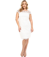 Adrianna Papell - Plus Size Lace Cap Sleeve Dress
