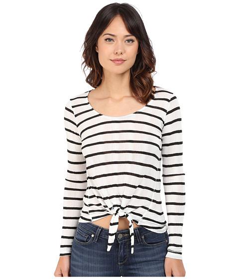 Splendid - Huntington Stripe Rib Long Sleeve (White/Black) Women's Clothing