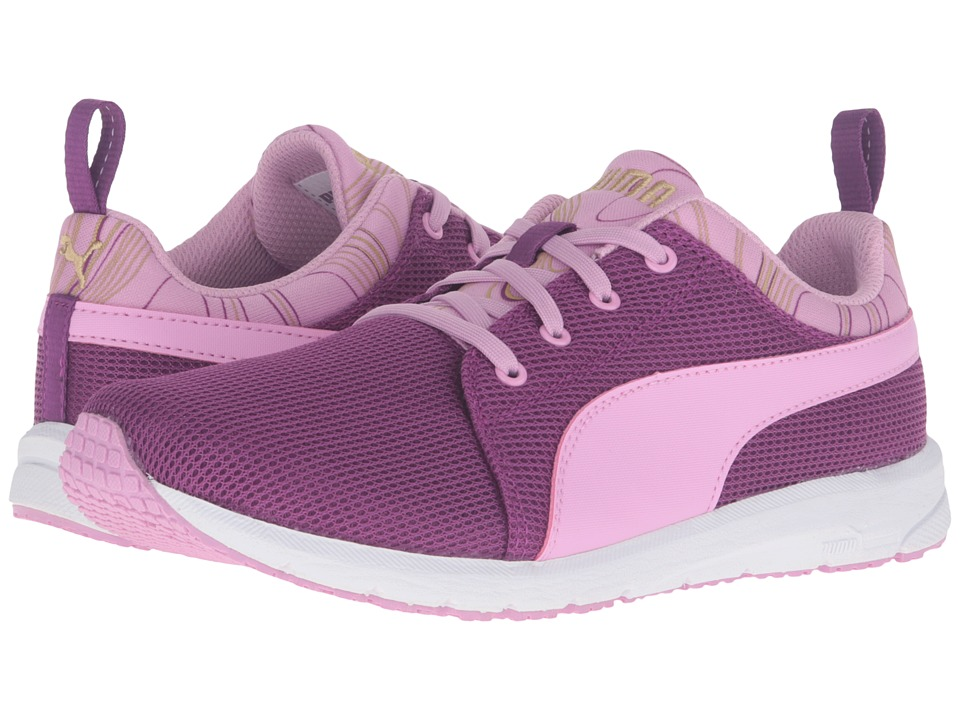 Puma Kids - Carson Runner Marble Jr (Big Kid) (Hollyhock/Pastel Lavender) Girls Shoes